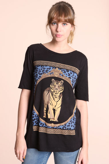 Truly Madly Deeply Animal Scarf Tee at Urban Outfitters