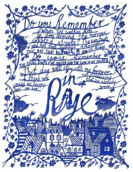 Rob Ryan paper cut art