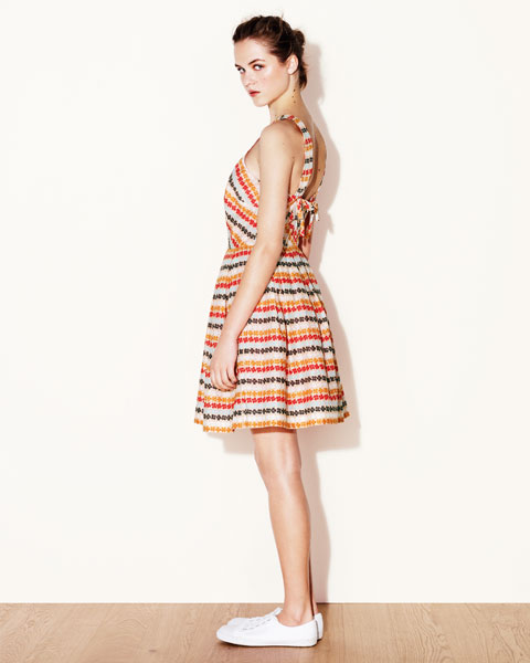 Jaeger Boutique Rainbow Stripe Dress