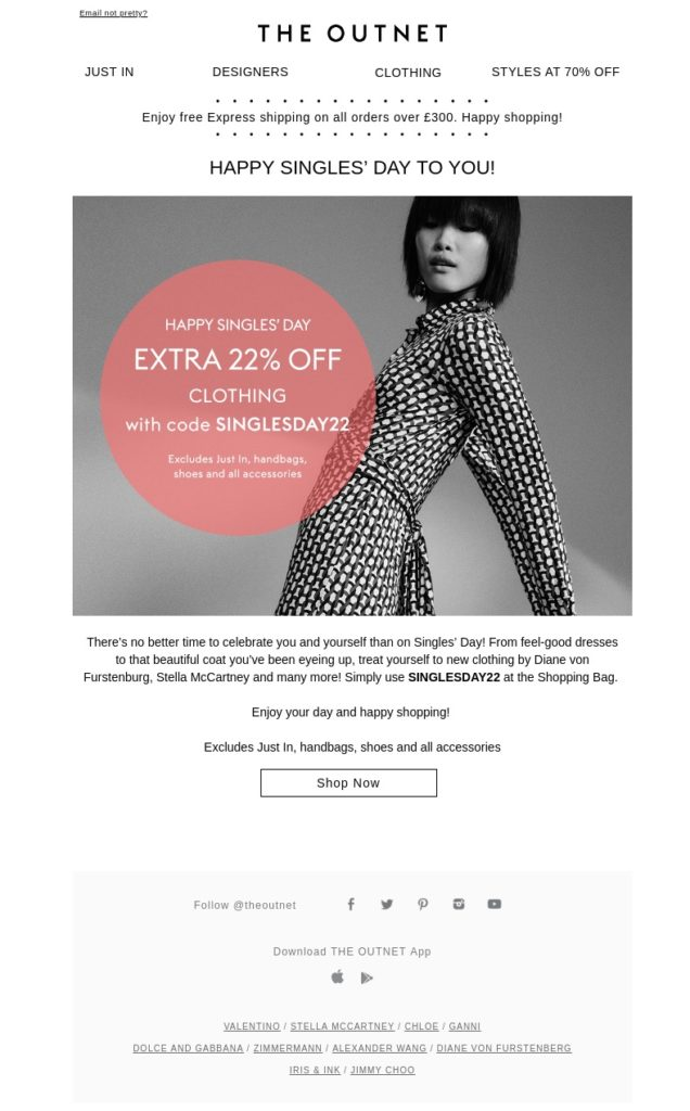The Outnet Email Uk Nov 11, 2020