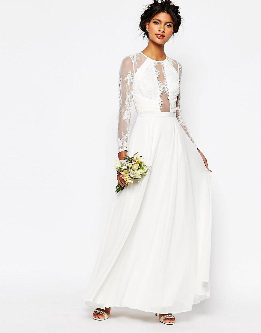 The 93 wedding dress brides are saying 39 i do 39 to edited for Lace maxi wedding dress
