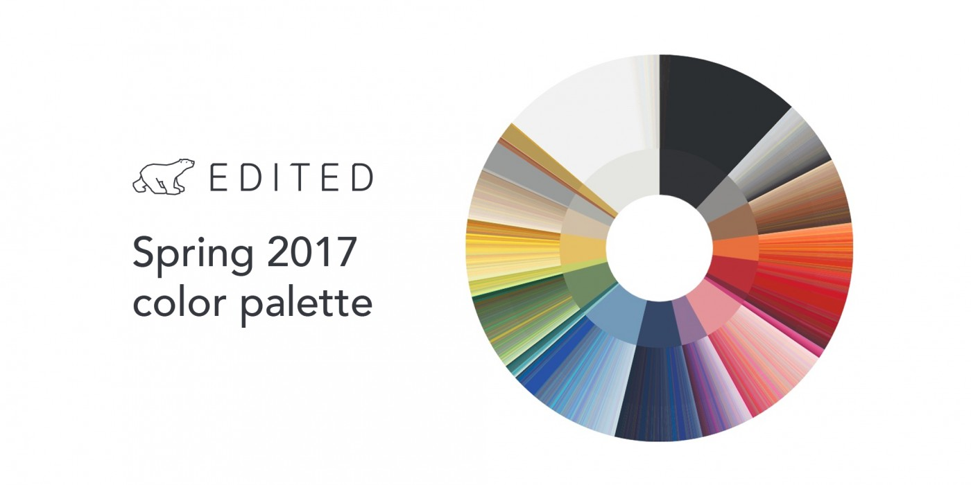The definitive color palette compiled with color recognition software which views every single runway image.