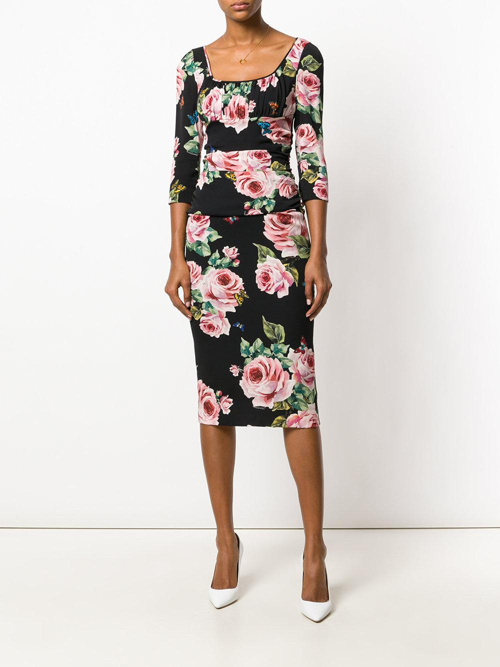 33ca8d80 Dolce & Gabbana floral print dress at Farfetch - EDITED - EDITED