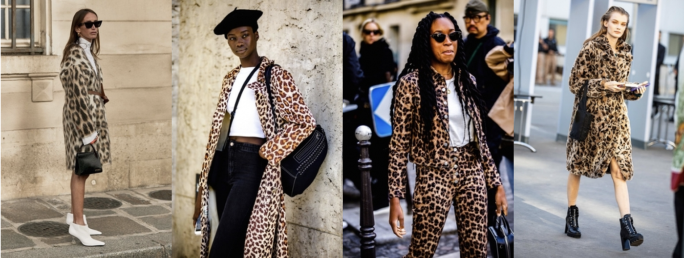 8082398e33da Leopard and chetah prints were popular on stylish show-goers at PFW.